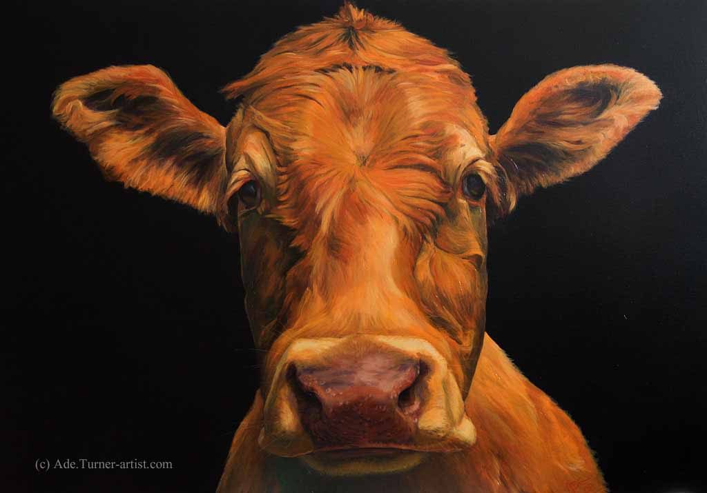 Peeking behind the cow a painting in alkyds ade turner for What are alkyd paints